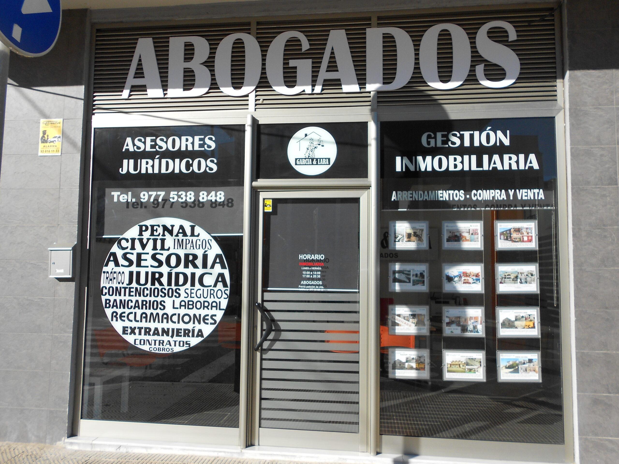 Foto exterior del bufete de abogados garcia lara Carrer de Cèsar Martinell i Brunet, 34, local 2, 43700 El Vendrell, Tarragona